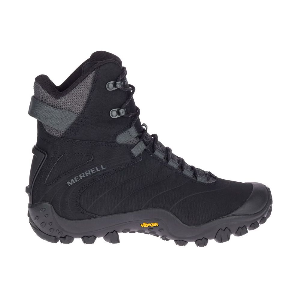 Merrell Men's Chameleon Thermo 8 Tall Waterproof Boots in Black/Rock