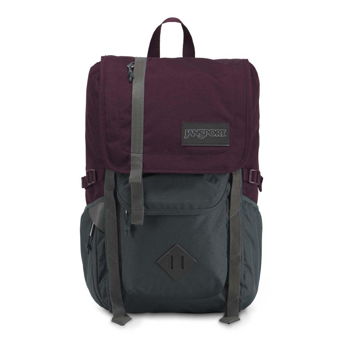 JanSport Hatchet Backpack in Dried Fig/Grey Horizon