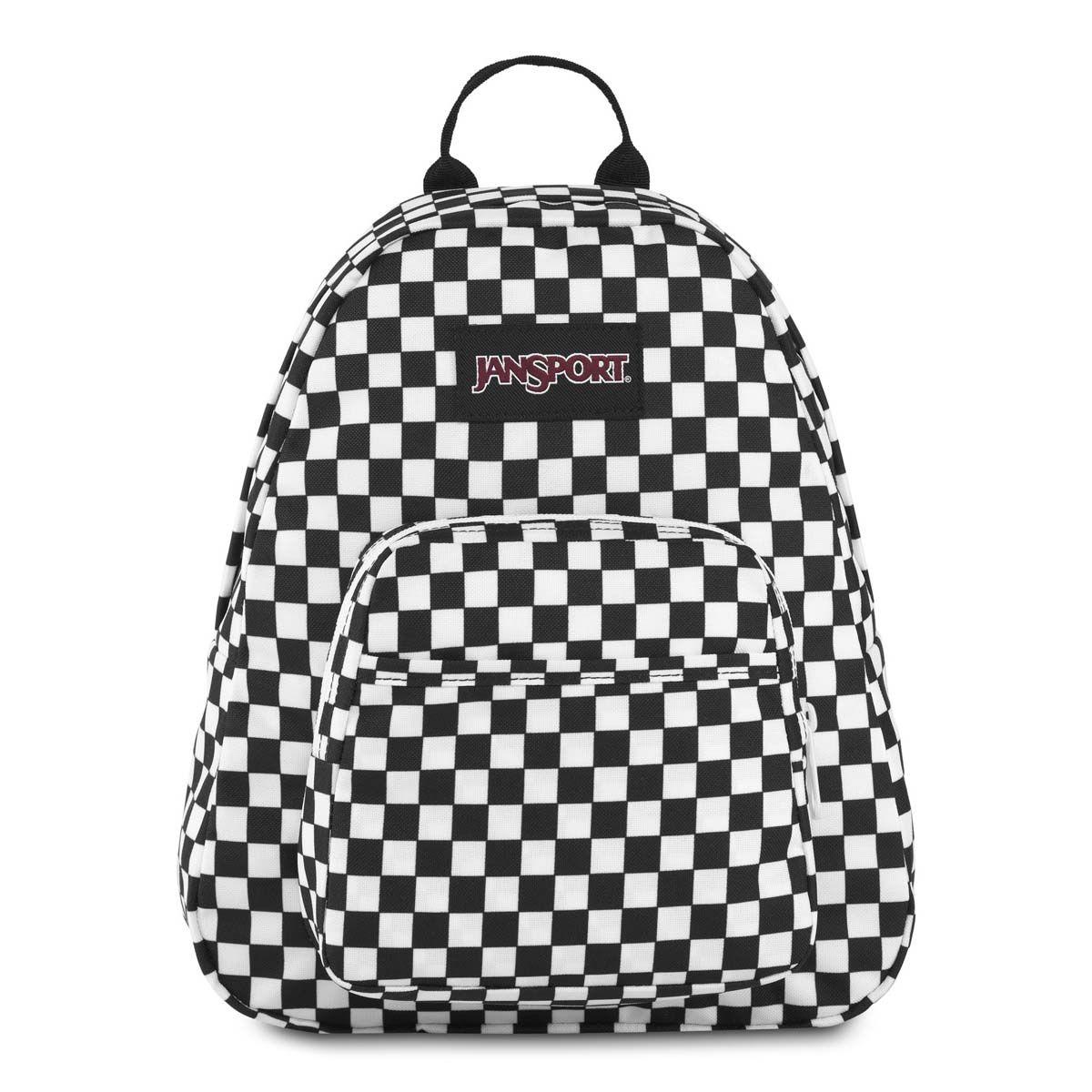 JanSport Half Pint Mini Backpack in Finish Line Flag Check