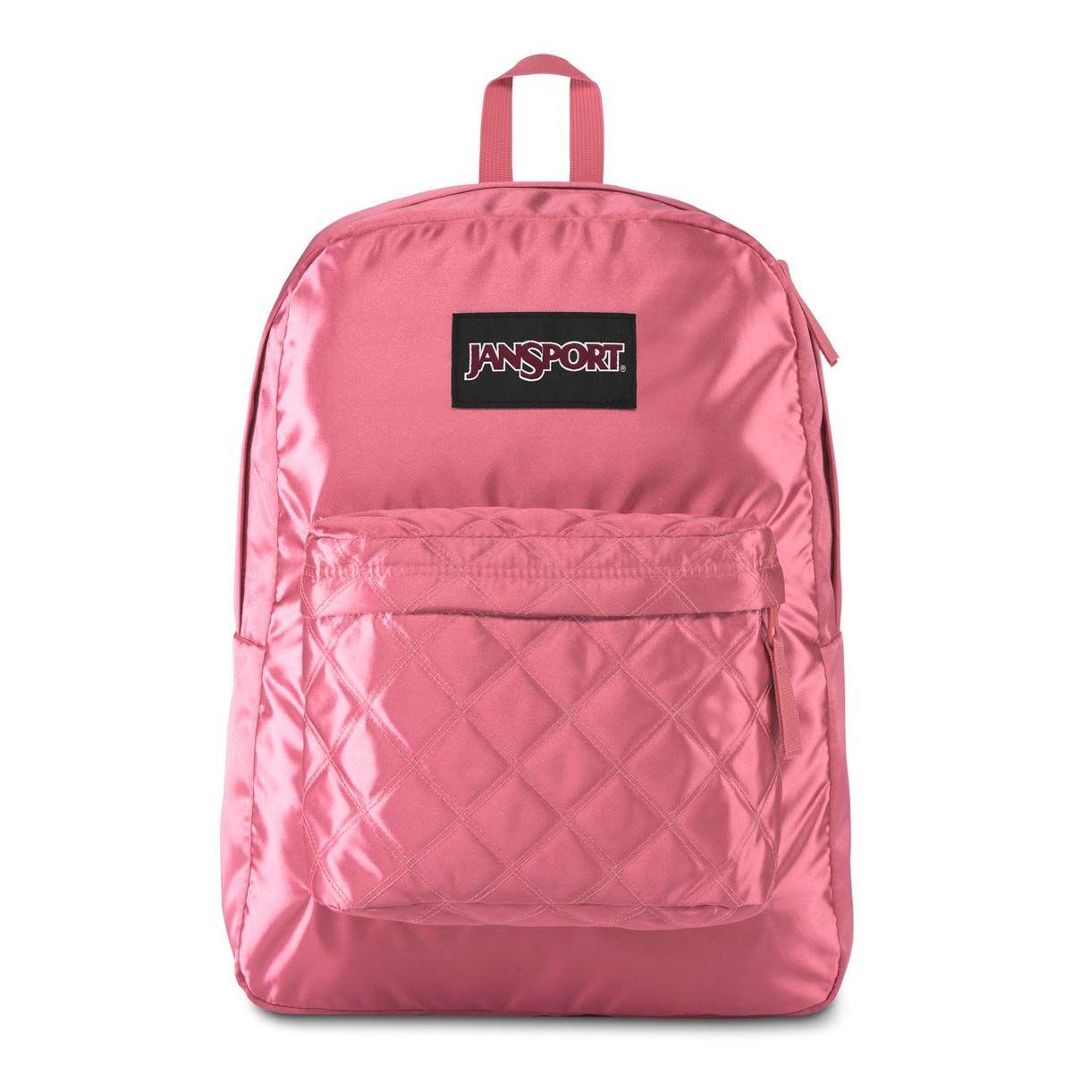 JanSport Super FX Backpack in Slate Rose Diamond Quilting
