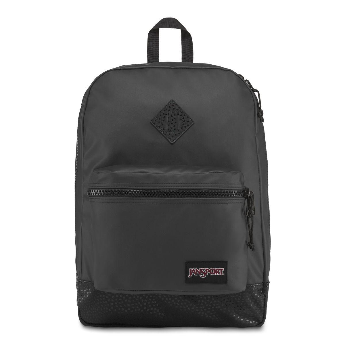 JanSport Super FX Backpack in Black Stone Iridescent