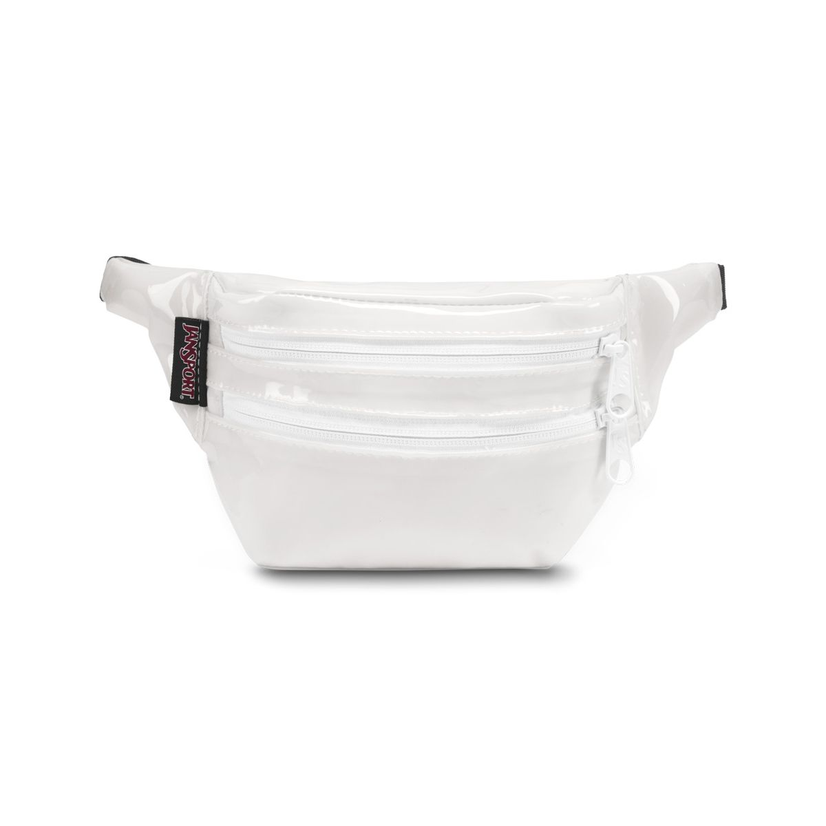 JanSport Hippyland Fanny Pack in Translucent White