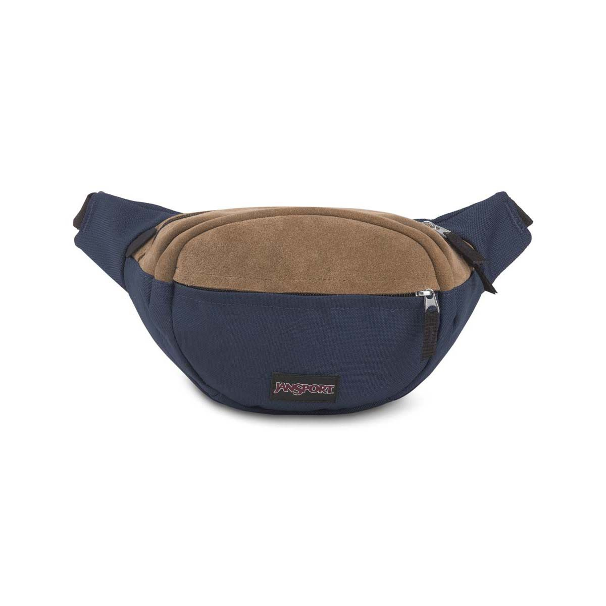JanSport Fifth Ave Suede Fanny Pack in Navy