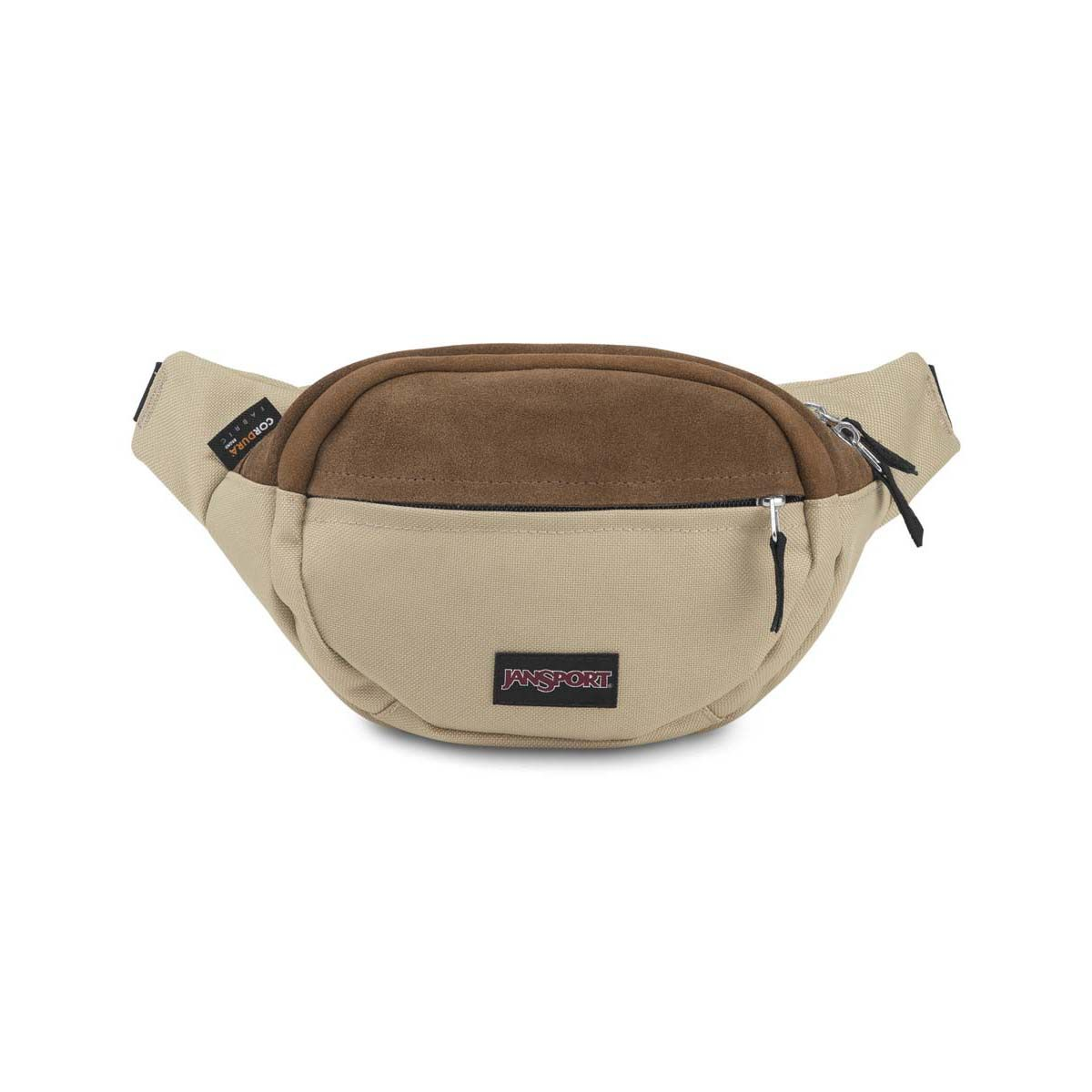JanSport Fifth Ave Suede Fanny Pack in Oyster
