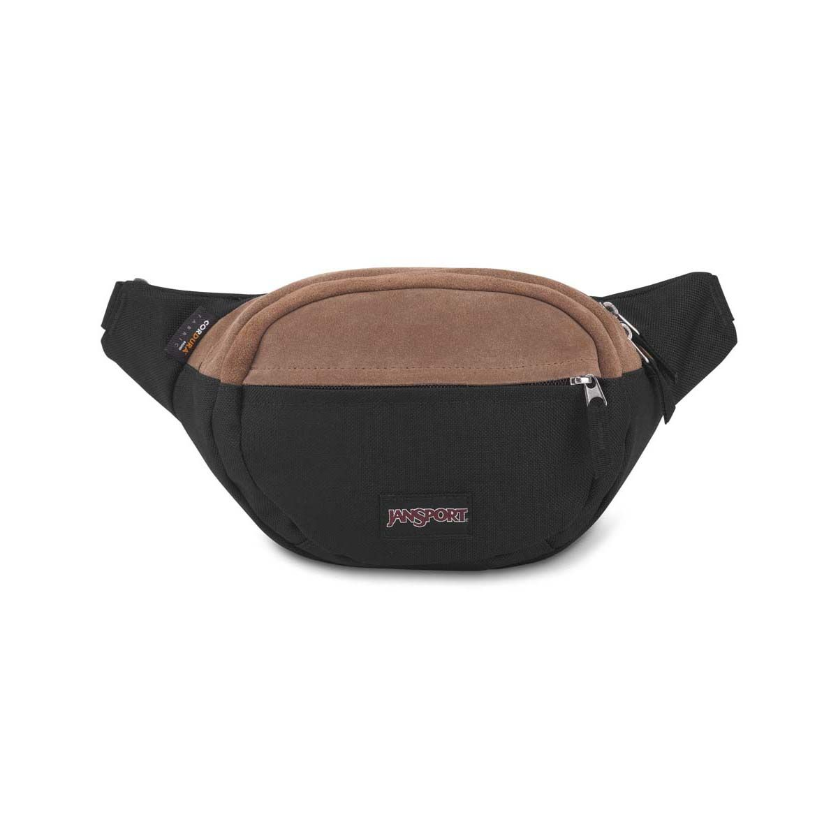 JanSport Fifth Ave Suede Fanny Pack in Black