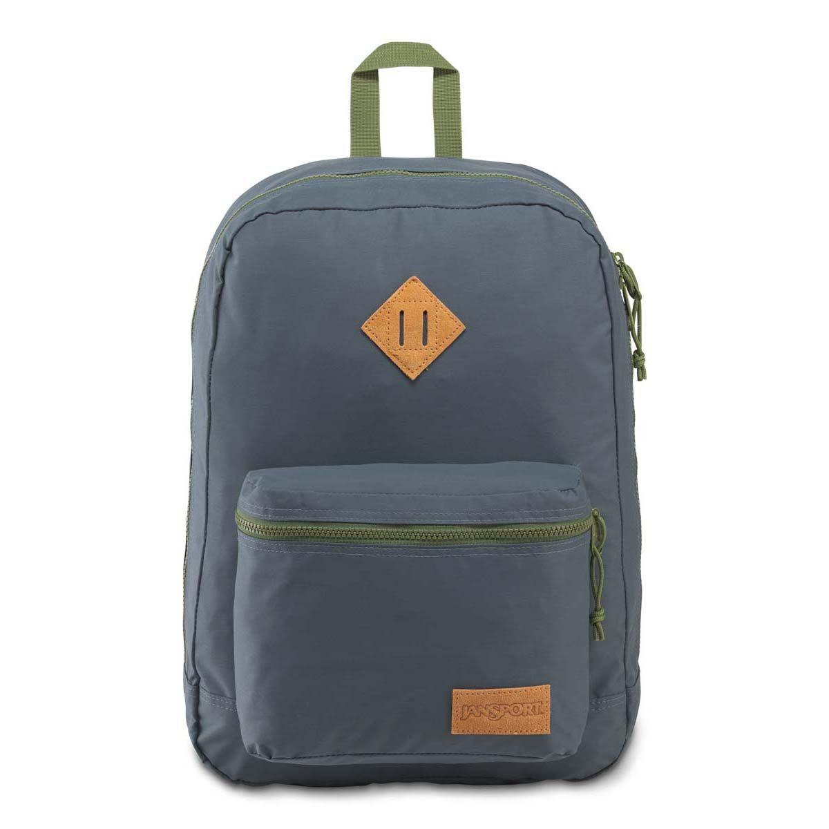 JanSport Super Lite Backpack in Dark Slate Grey/New Olive Green