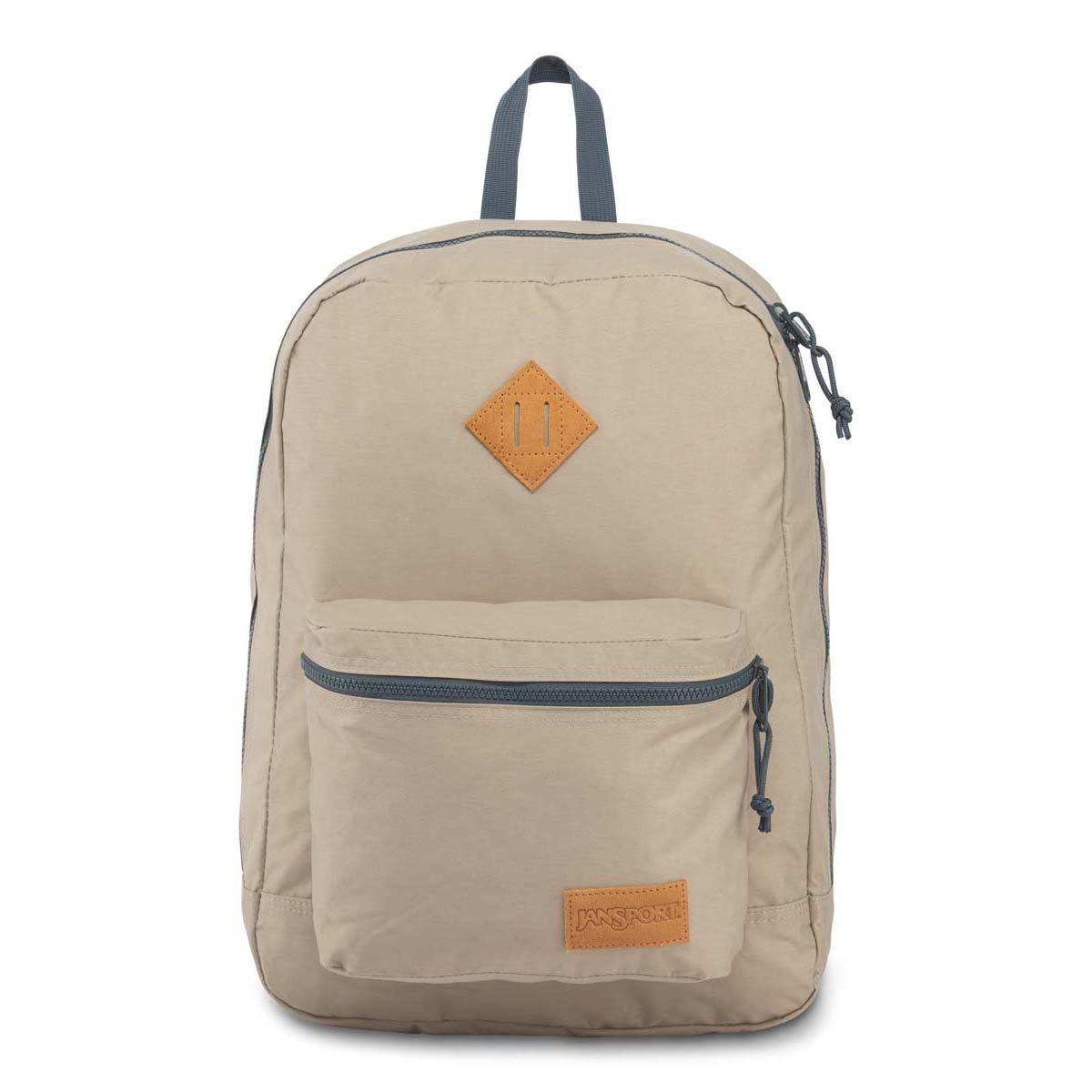 JanSport Super Lite Backpack in Oyster/Dark Slate Grey
