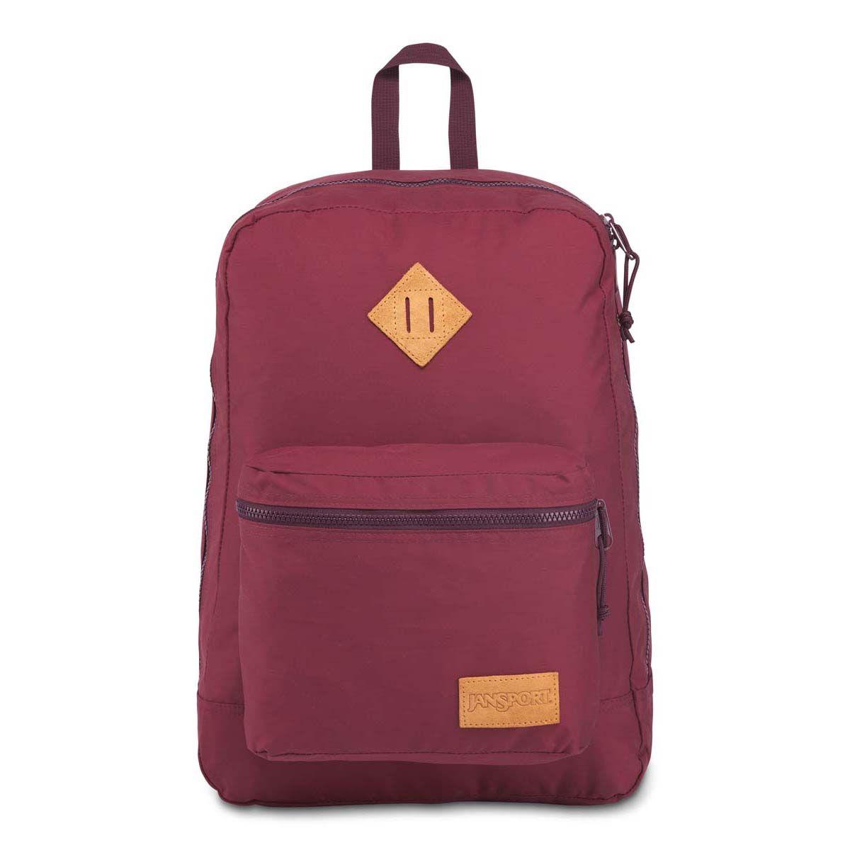 JanSport Super Lite Backpack in Russet Red/Dried Fig