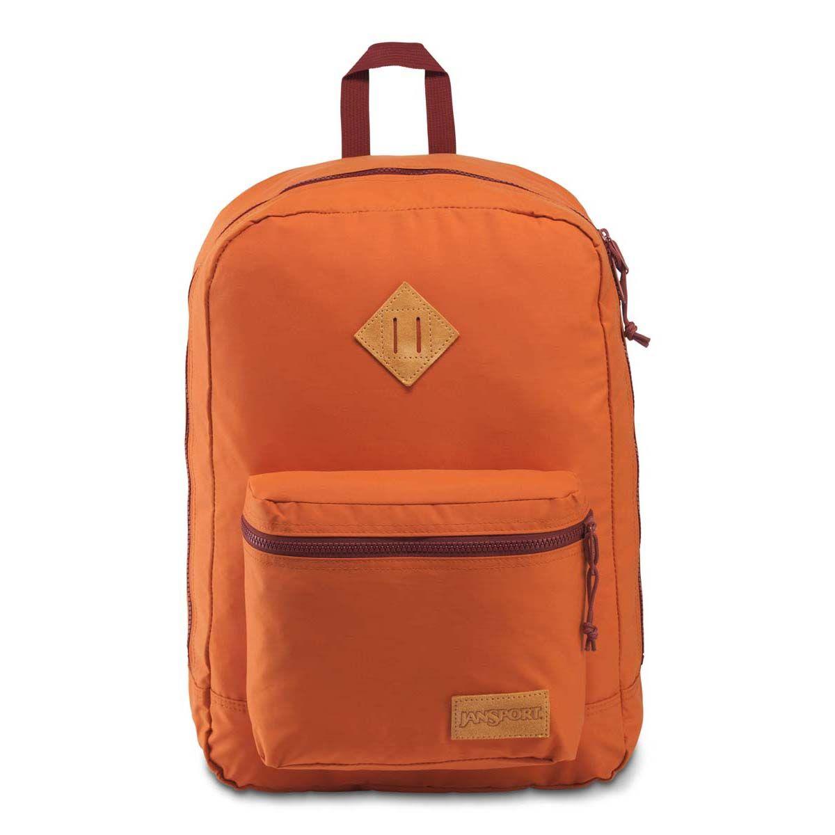 JanSport Super Lite Backpack in Umber/Red Rust