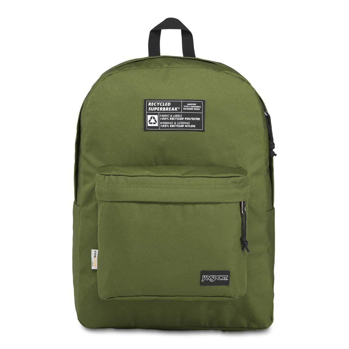 JanSport Recycled SuperBreak® Backpack in New Olive Green