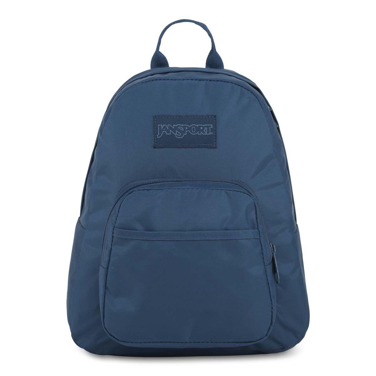 JanSport Mono Half Pint Mini Backpack in Dark Denim Blue