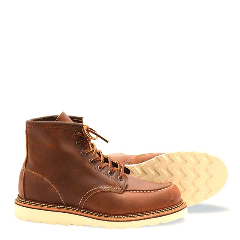 Red Wing Classic Moc Men's 6-inch Boot in Copper