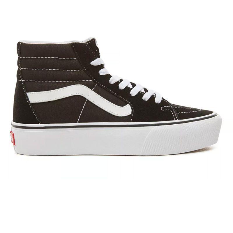 Vans Sk8-Hi Platform in Black/Black/White