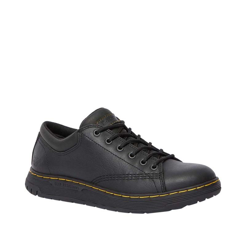 Dr. Martens Maltby Slip Resistant Leather Work Shoes in Black