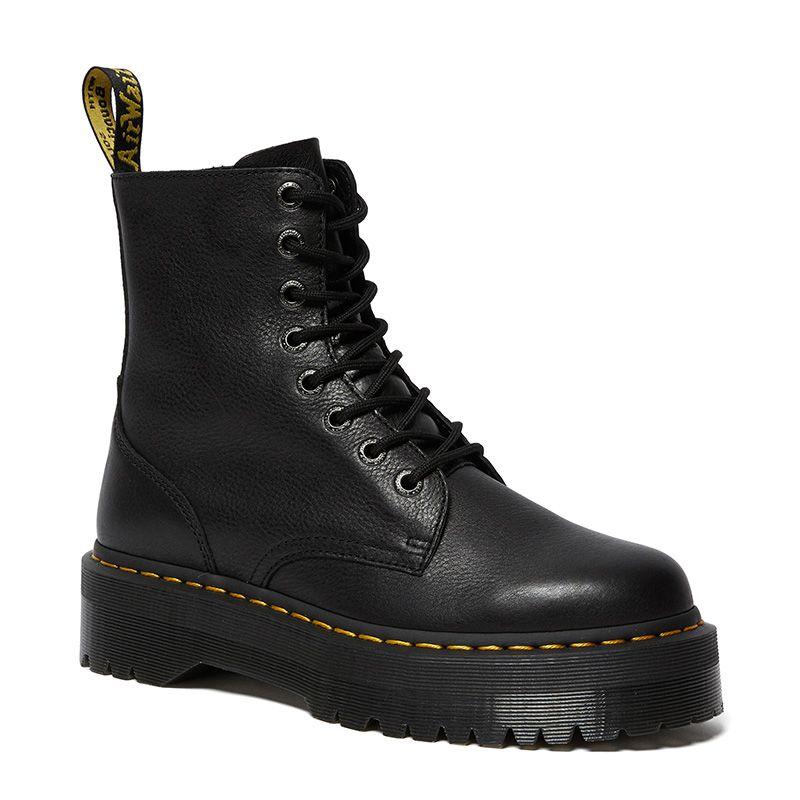 Dr. Martens Jadon Pisa Leather Platform Boots in Black