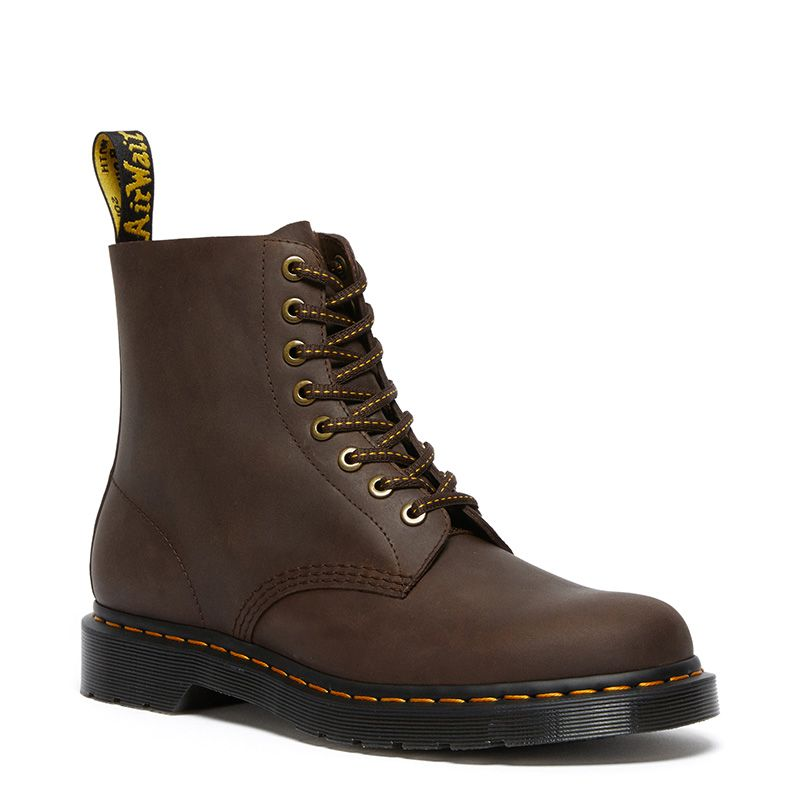 Dr. Martens 1460 Pascal Leather Lace Up Boots in Dark Brown