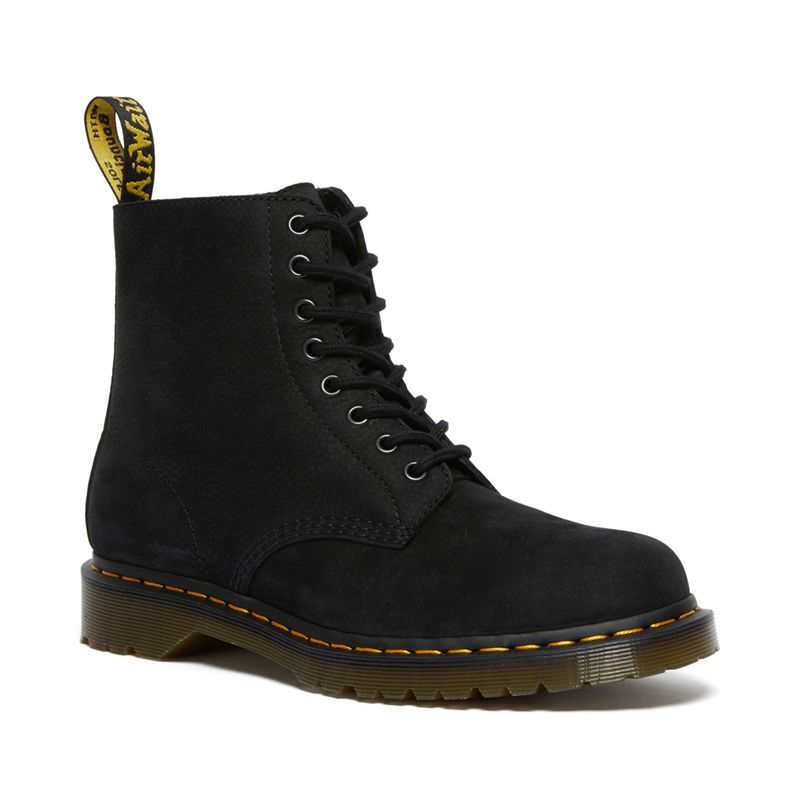 Dr. Martens 1460 Pascal Nubuck Leather Lace Up Boots in Black