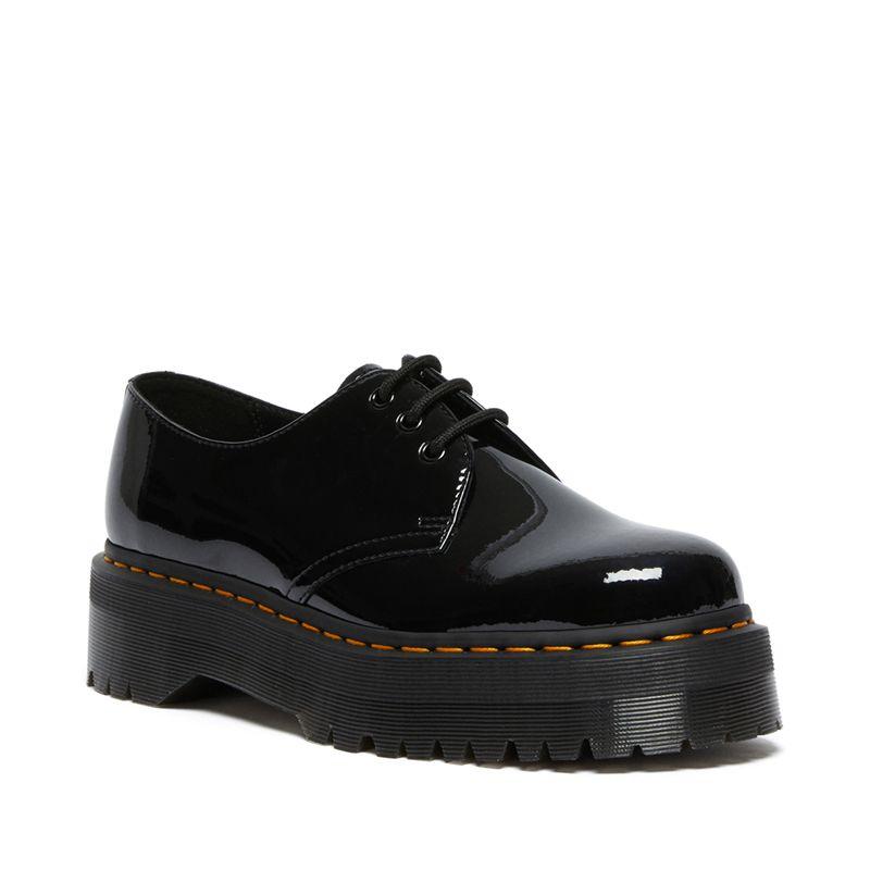 Dr. Martens 1461 Patent Leather Platform Oxford Shoes in Black