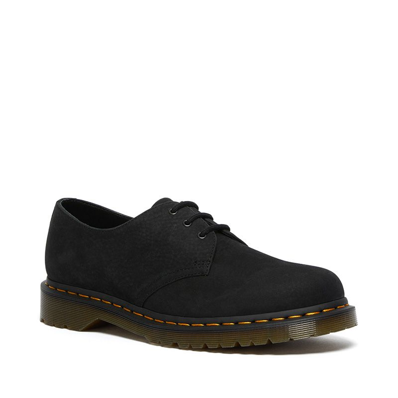 Dr. Martens 1461 Nubuck Leather Shoes in Black