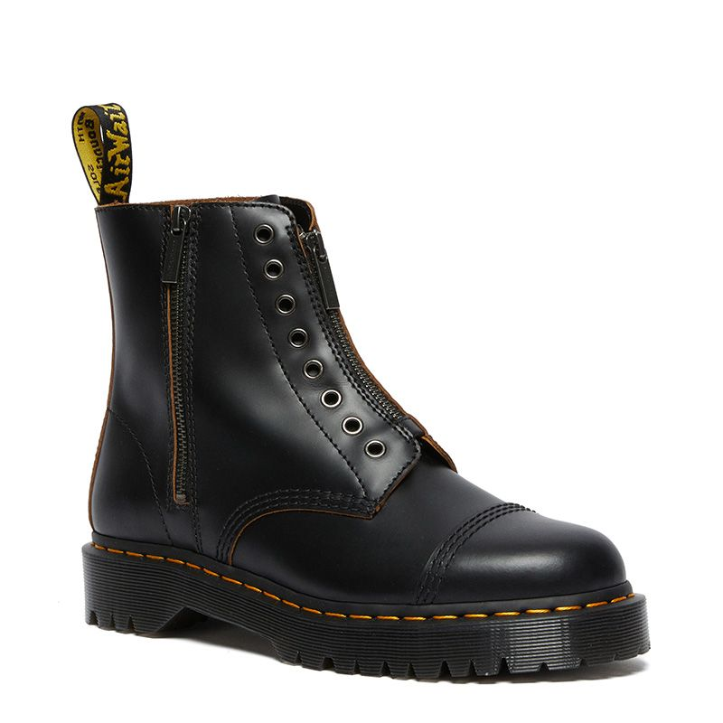 Dr. Martens 1460 Laceless Bex Leather Boots in Black