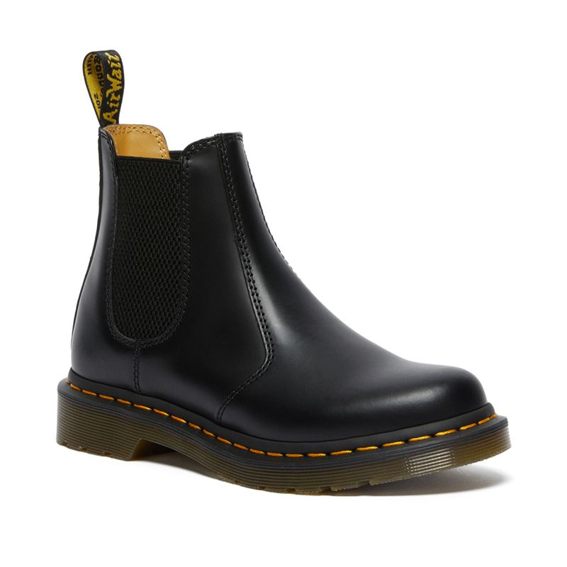 Dr. Martens 2976 Women's Smooth Leather Chelsea Boots in Black