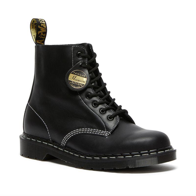 Dr. Martens 1460 Black Cavalier Leather Boots in Black