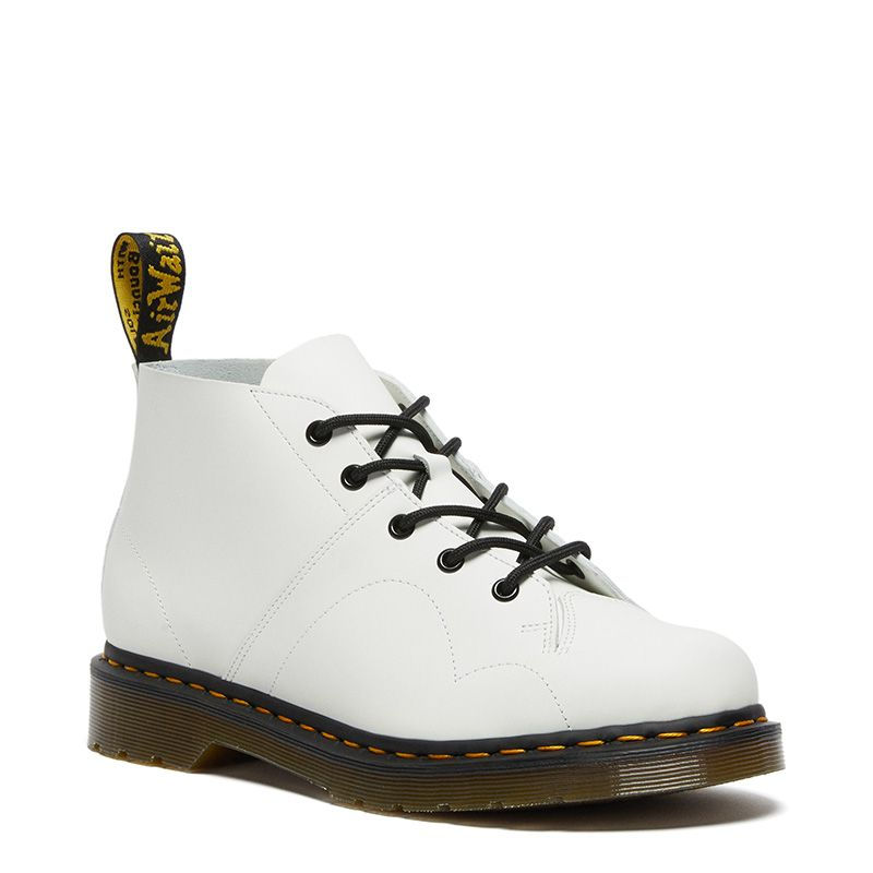 Dr. Martens Church Smooth Leather Monkey Boots in White