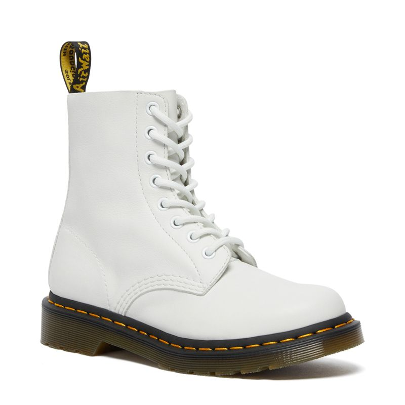 Dr. Martens 1460 Women's Pascal Virginia Leather Boots in Optical White