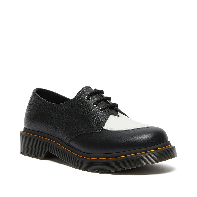 Dr. Martens 1461 Amore Leather Oxford Shoes in Black/White