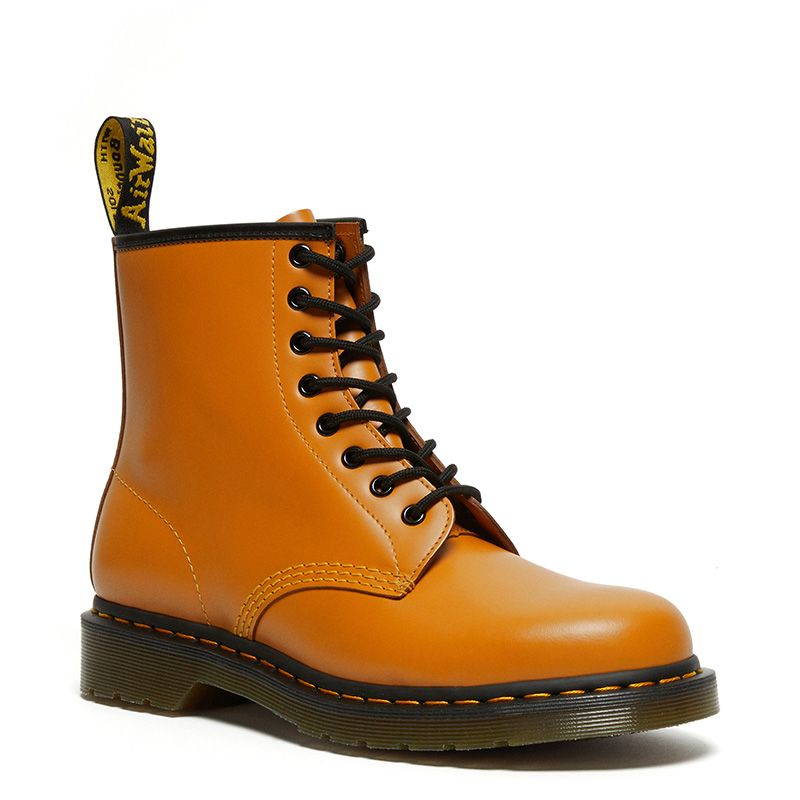 Dr. Martens 1460 Smooth Leather Ankle Boots in Pumpkin Orange