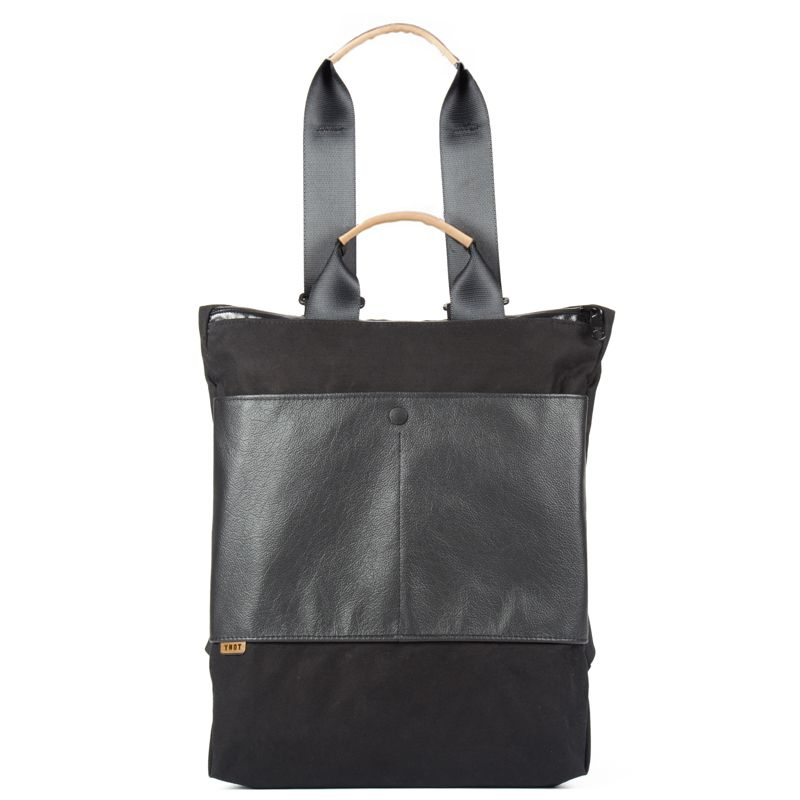 YNOT Split Shift in Leather/Black Army Duck