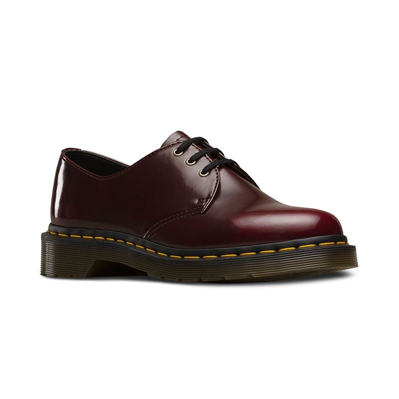 Dr. Martens Vegan 1461 Oxford Shoes in Cherry Red Cambridge Brush Off