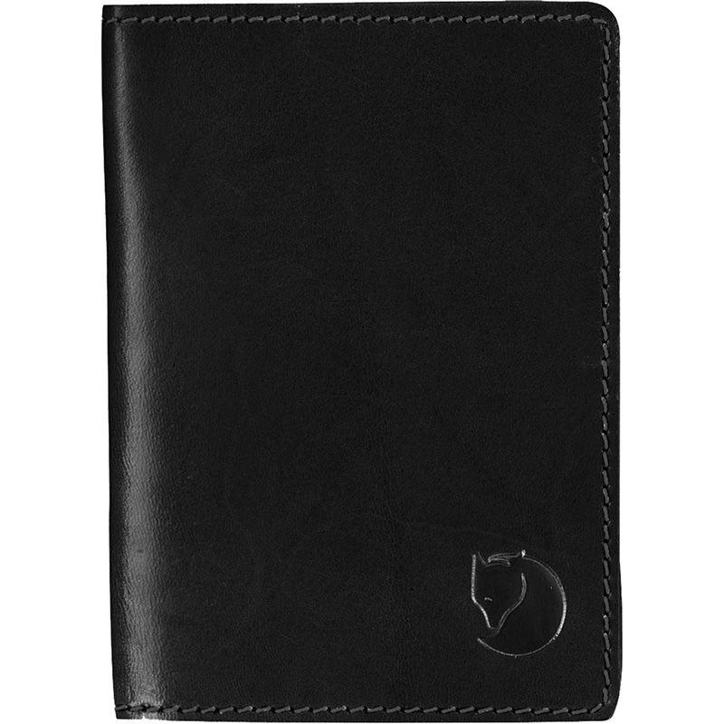 Fjällräven Leather Passport Cover in Black