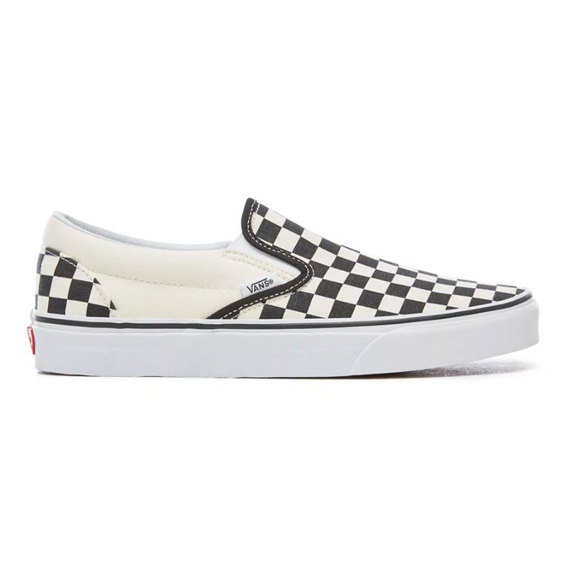 Vans Checkerboard Slip-On in Black/Off White