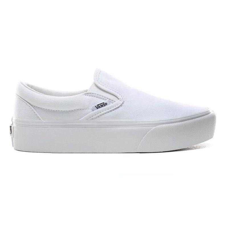 Vans Slip-On Platform in True White