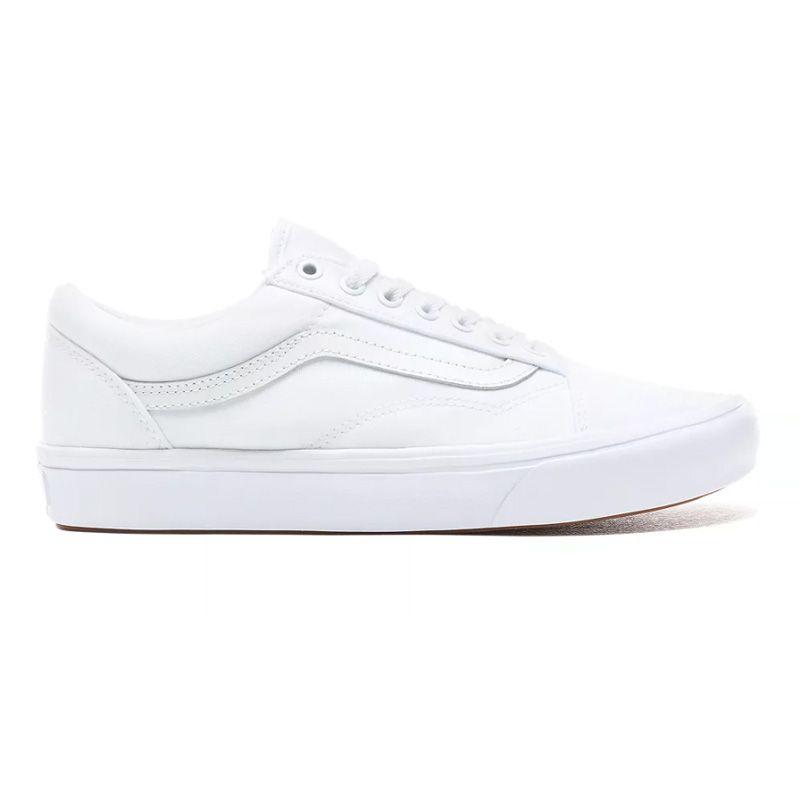 Vans ComfyCush Old Skool in True White/True White