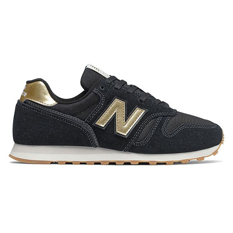 New Balance Women's 373 in Black/Gold