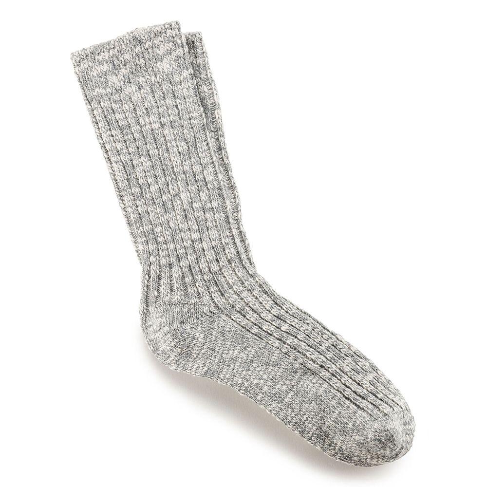 Cotton Slub Women's Socks in Gray White