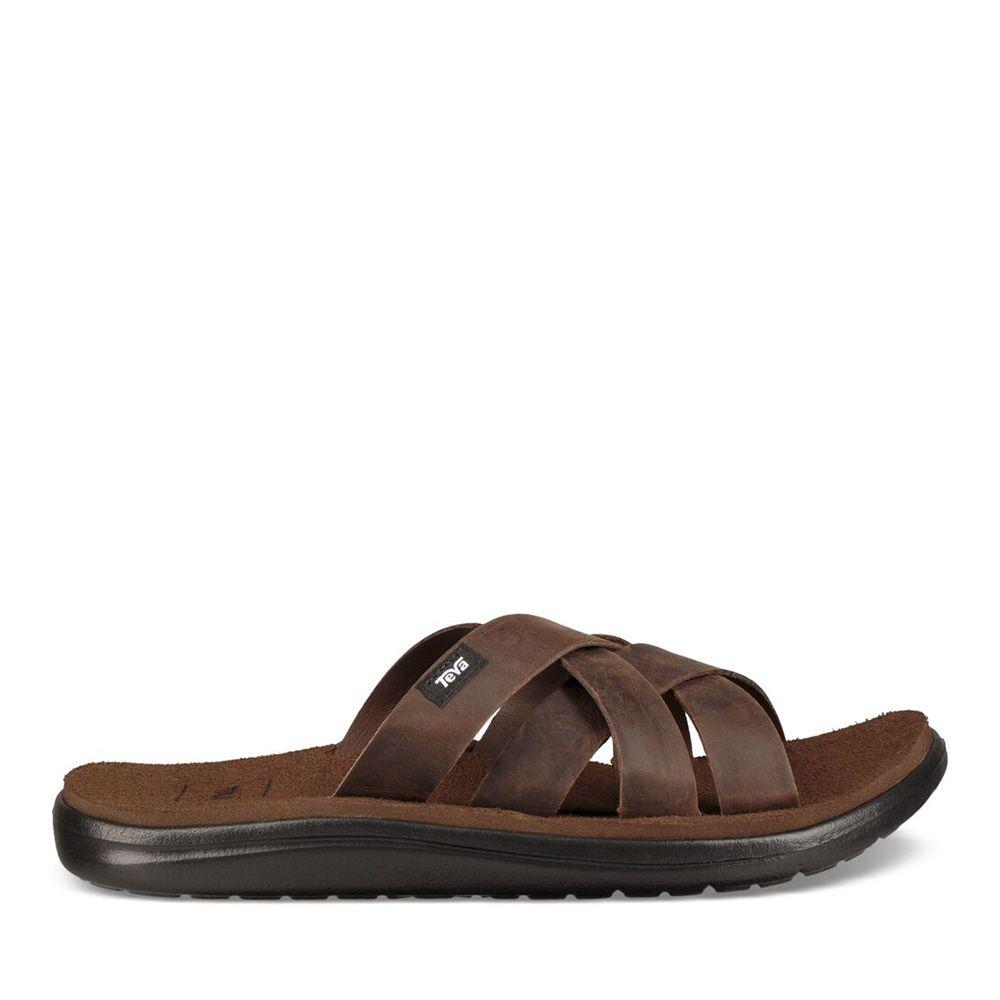 Teva Men's Voya Slide Leather in Carafe