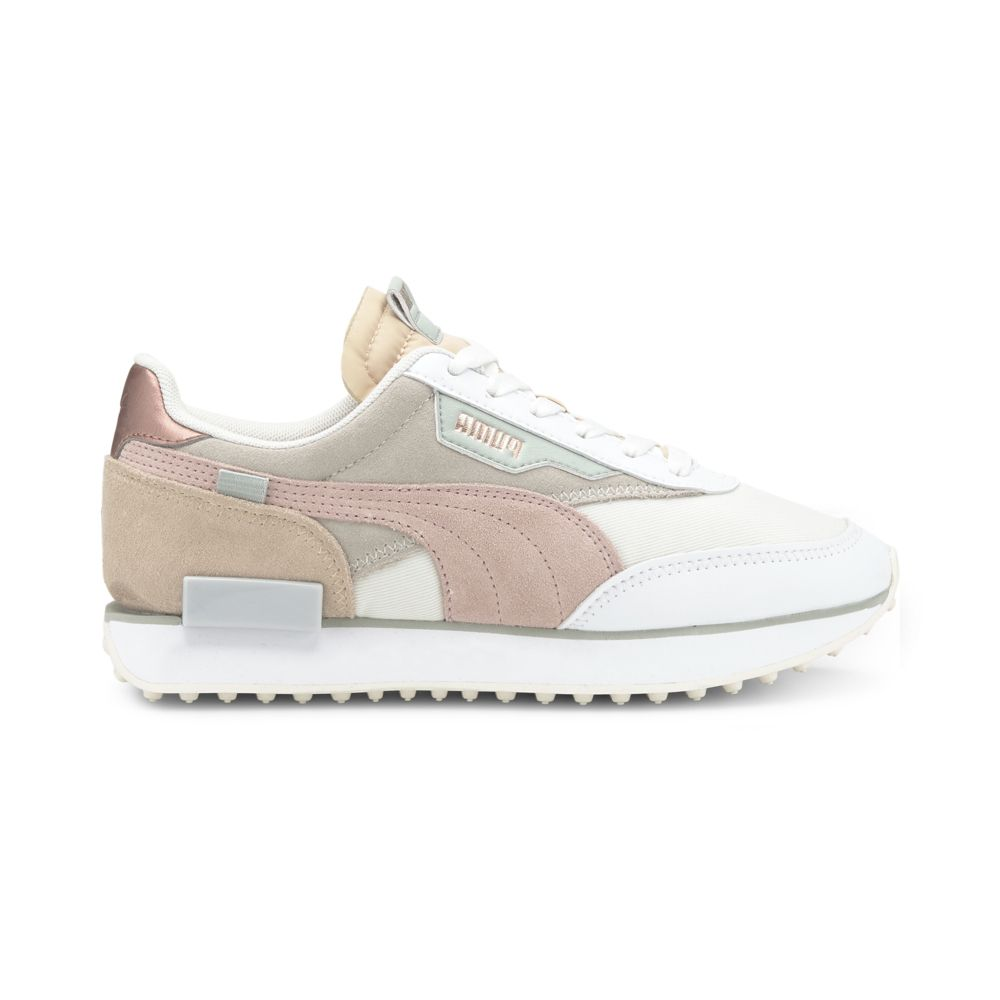 Puma Women's Future Rider Soft Metal in Marshmallow/Natural Vachetta