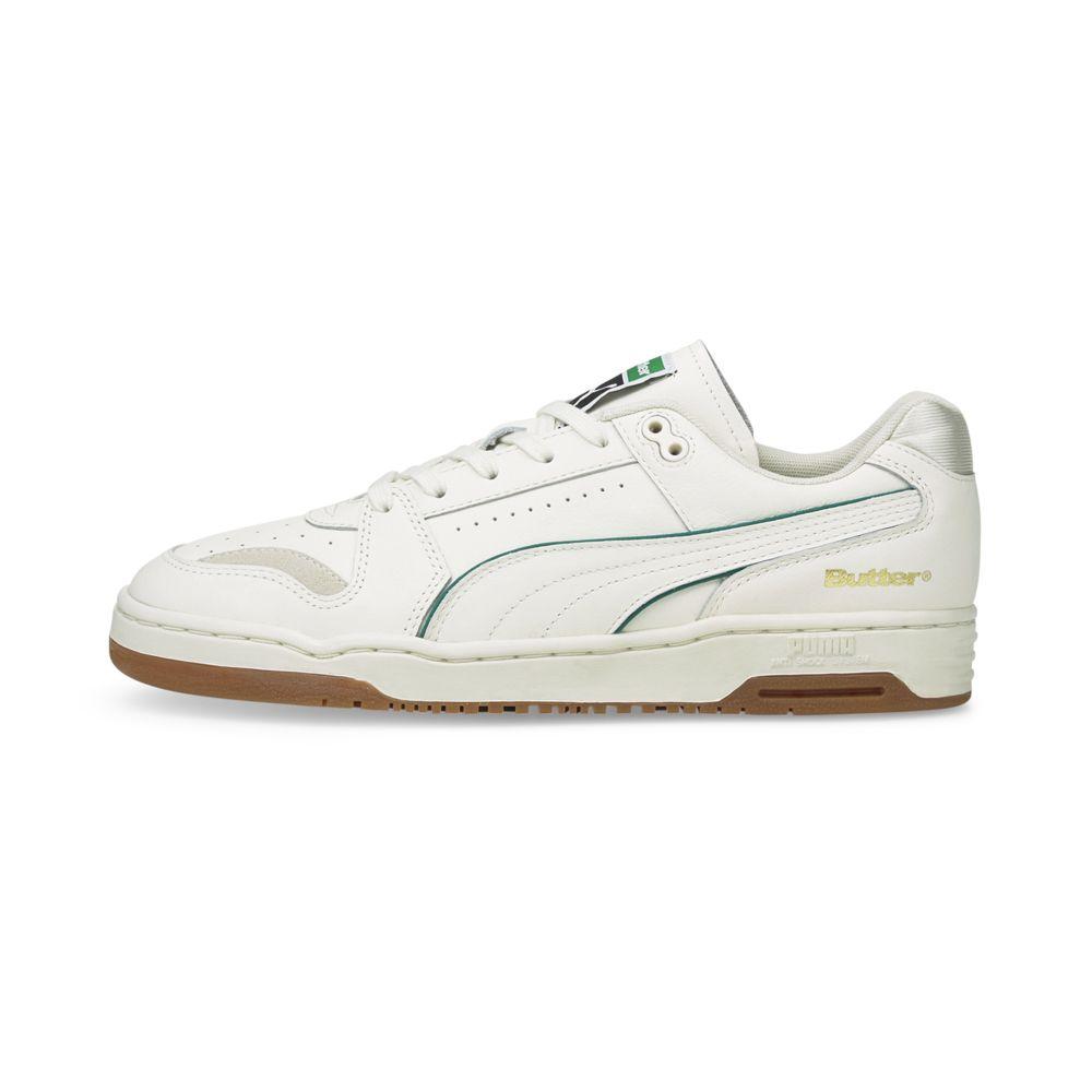 PUMA x BUTTER GOODS Slipstream Lo in Whisper White/Cadmium Green