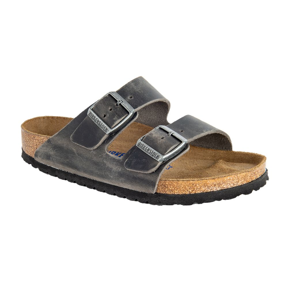 Arizona Soft Footbed Oiled Leather Regular in Iron