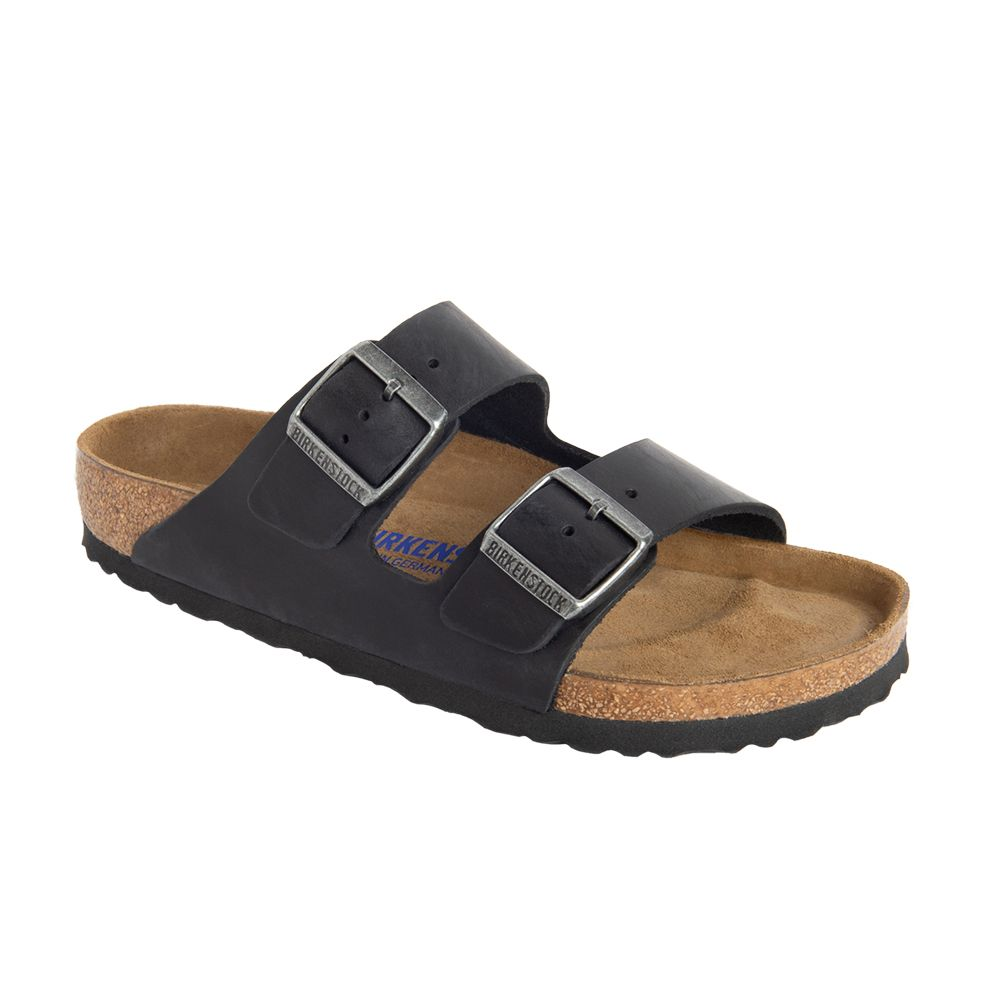 Arizona Soft Footbed Oiled Leather Regular in Black