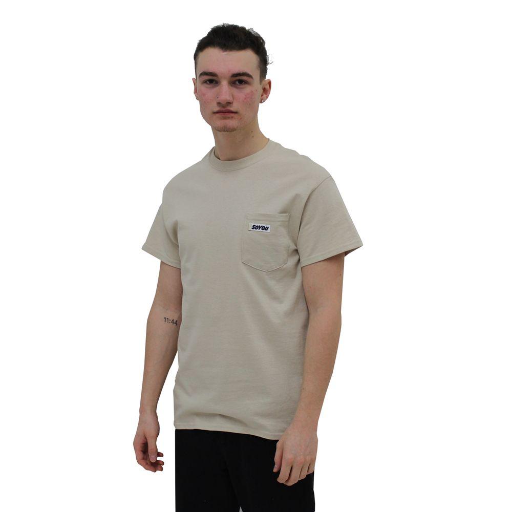 SoYou Clothing DM2 Pocket T-Shirt in Beige