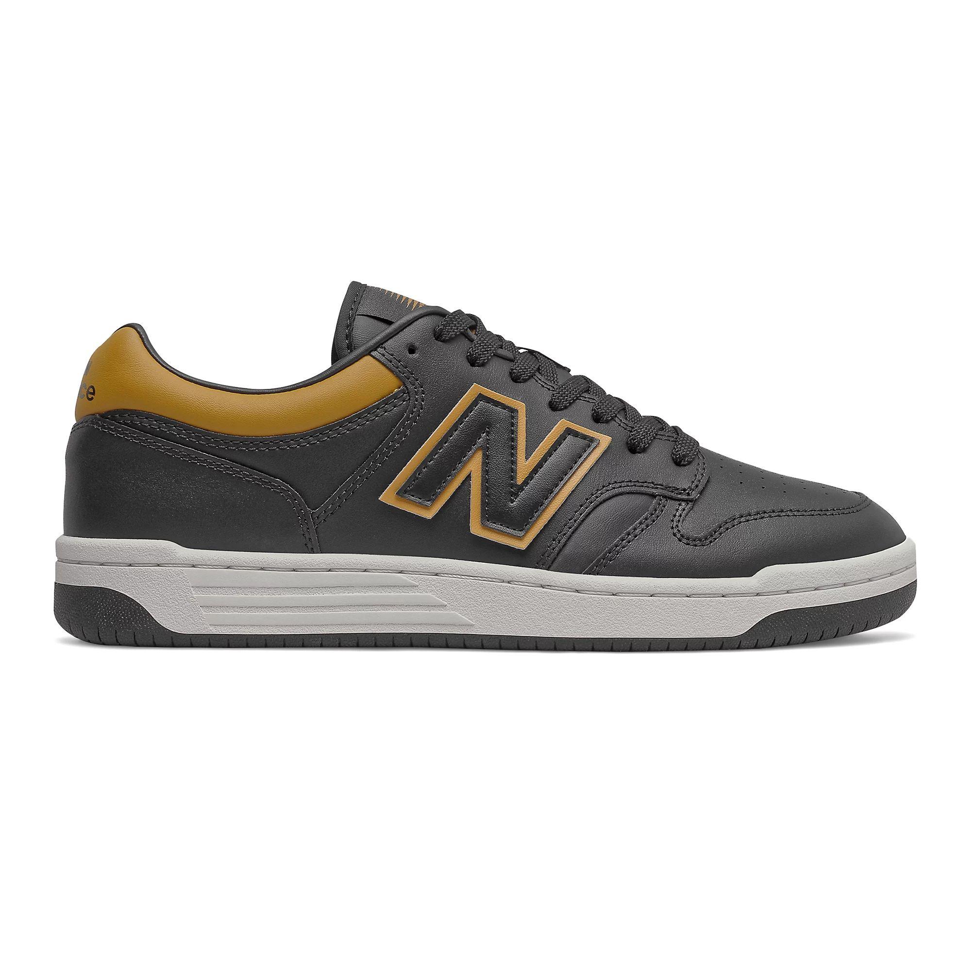 New Balance Men's BB480 in Black/Workwear/Gold/White
