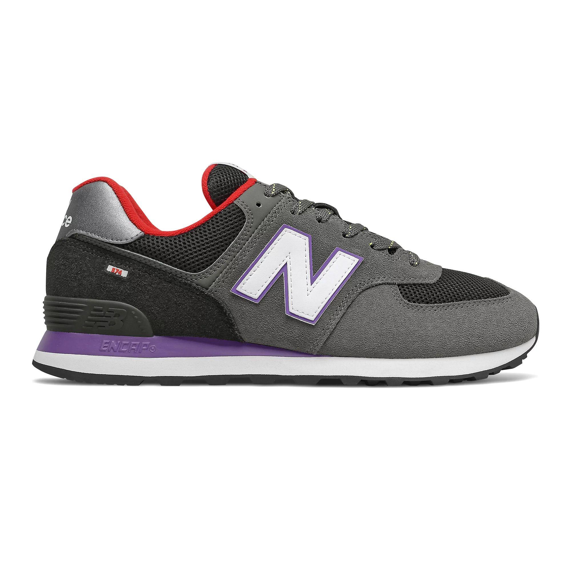 New Balance Men's 574 in Prism Purple/First Light/Grey