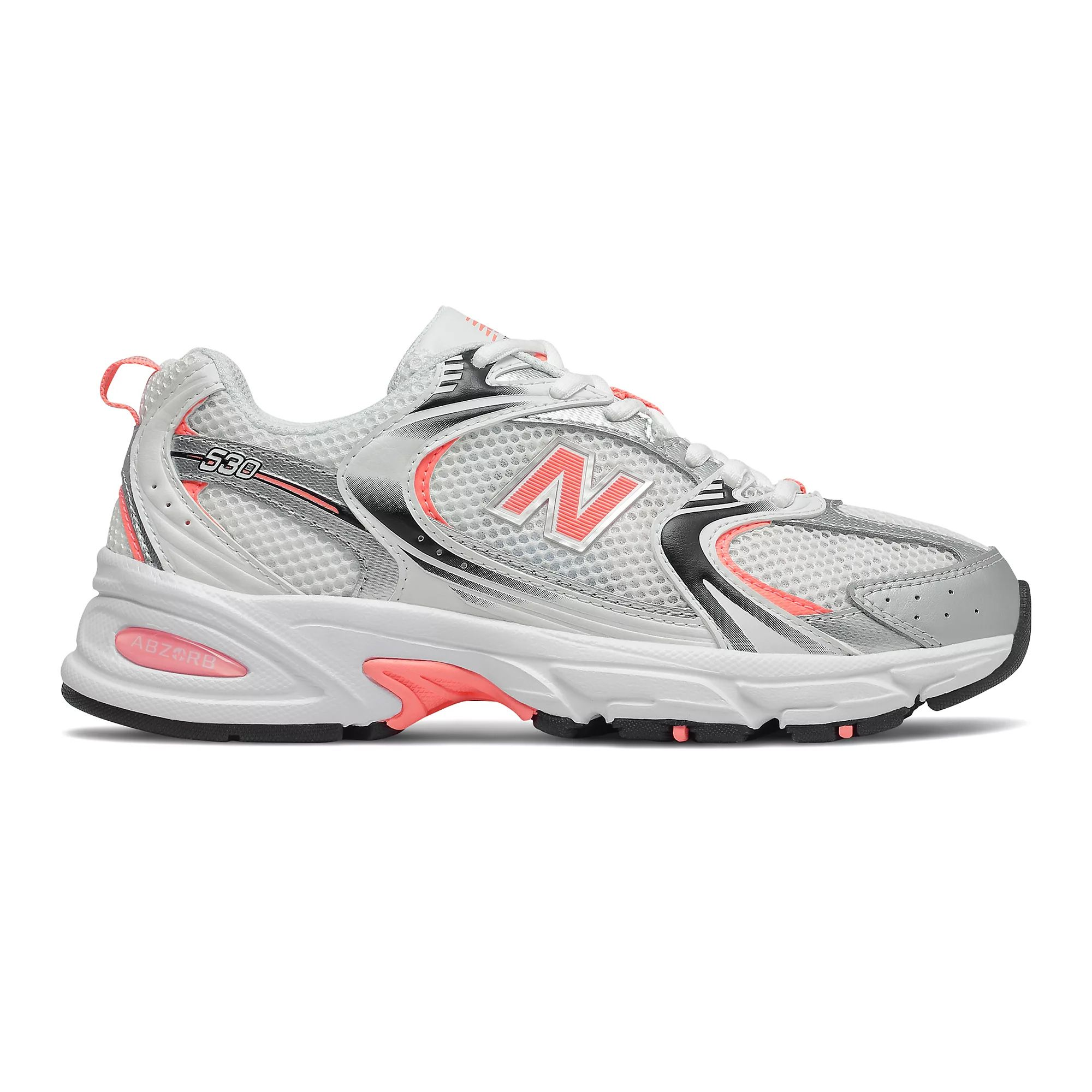 New Balance Men's 530 in Munsell White/Paradise Pink/Classic Silver