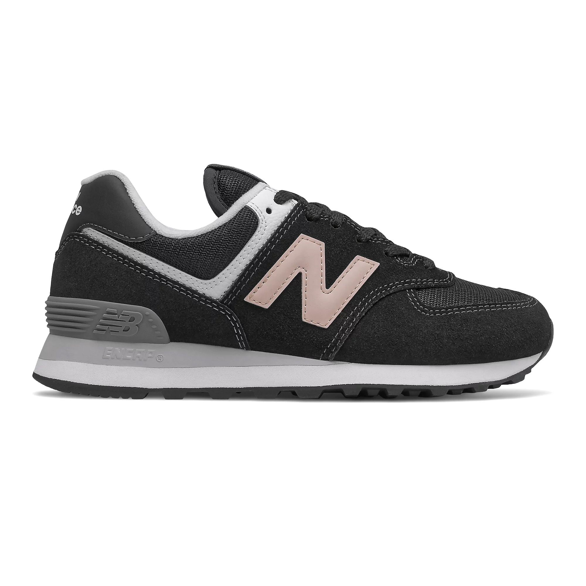 New Balance Women's 574 in Black/Oyster Pink