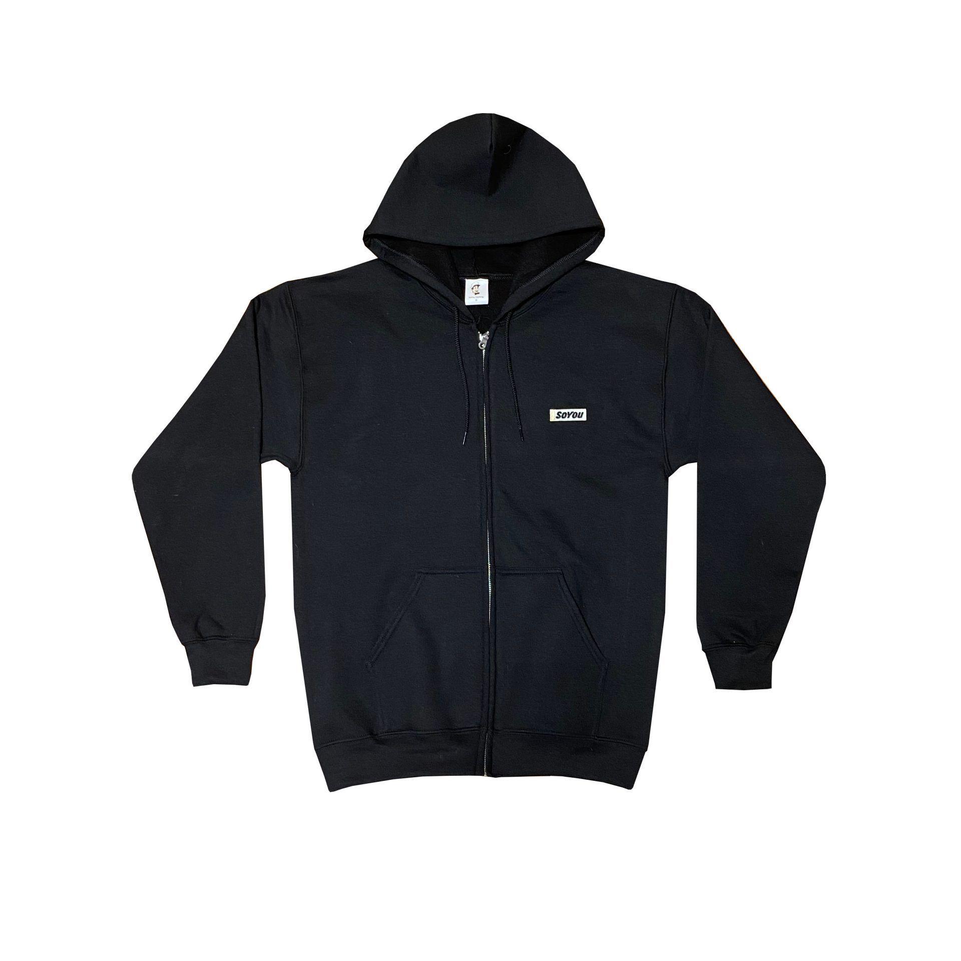 SoYou Clothing DM2 Zip Hoodie in Black