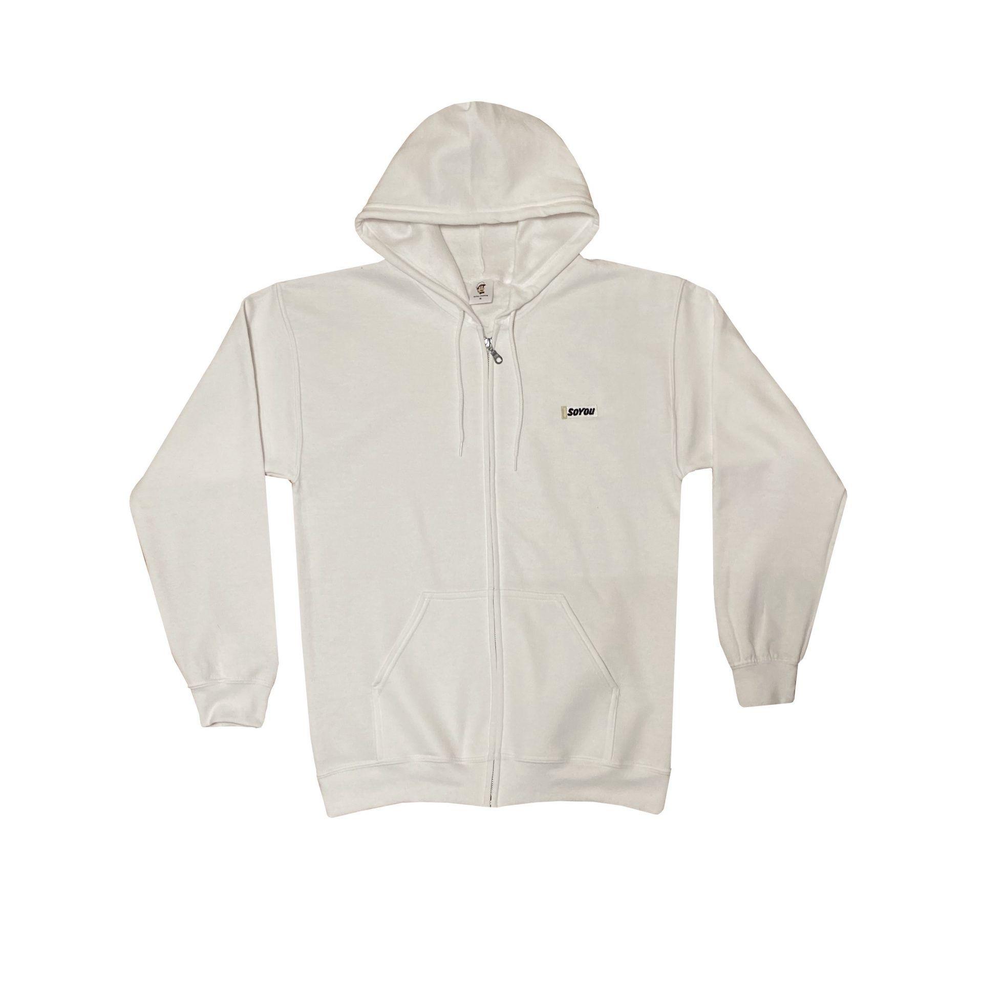 SoYou Clothing DM2 Zip Hoodie in White